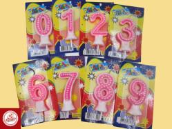 Velas de Aniversário Peroladas Ref.234