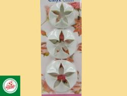 Kit Cortadores de Flor  (03 unidades) Ref.CD896