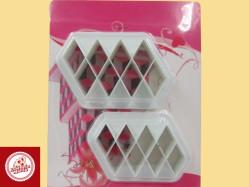 Cortadores Losango (02 unidades) Ref.CD2305