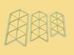 Kit Cortadores Triangulares (03 unidades)