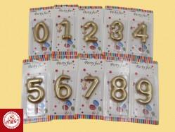 Velas de Aniversário Metalizadas  Ref.VL1921